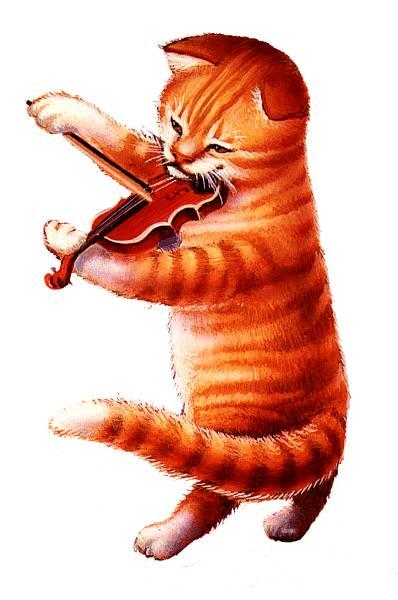 котик со скрипкой