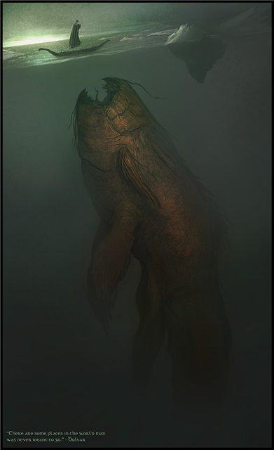 зловещий монстр из глубин