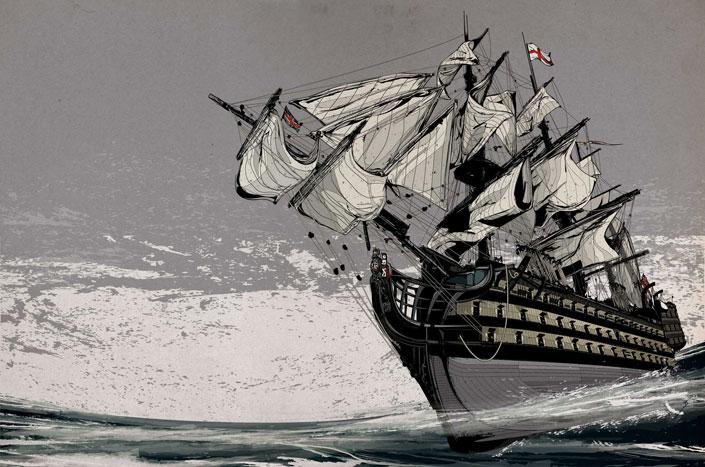 Корабль наполеоновской эры