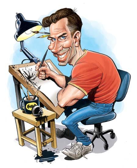 Том Ричмонд, карикатурист. Автопортрет.