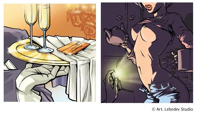 рисованная эротика