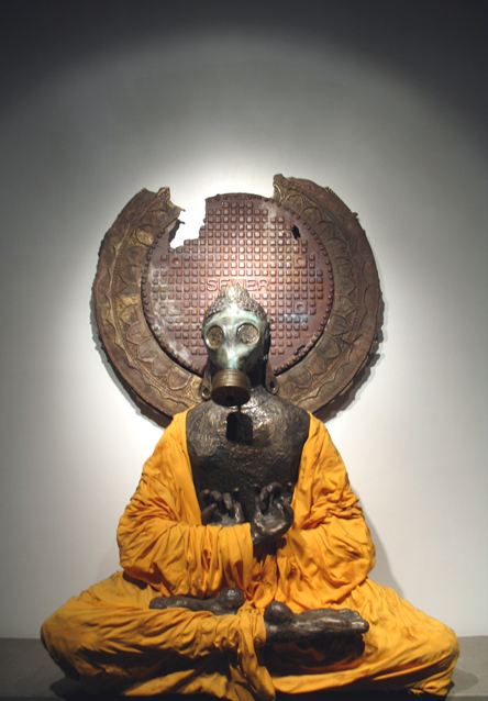 Siddhartha Gotama in gas mask