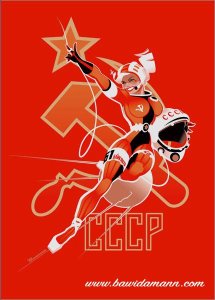 cosmonaut girl pinup