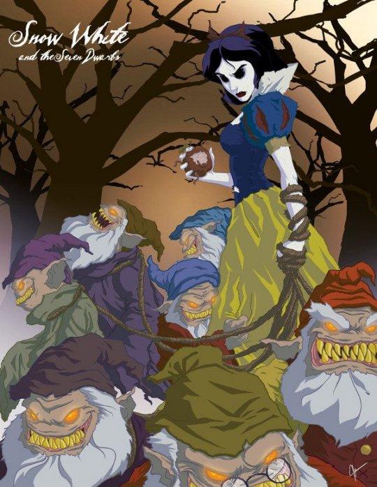 Страшные сказки и рисованные девушки