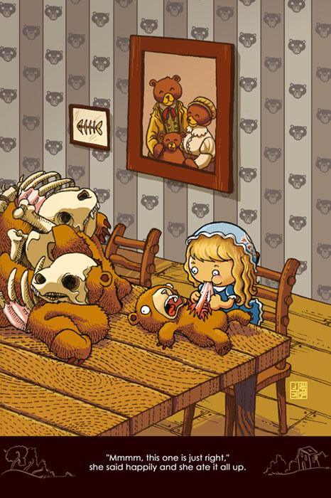 "Страшная версия сказки ""Три медведя"""