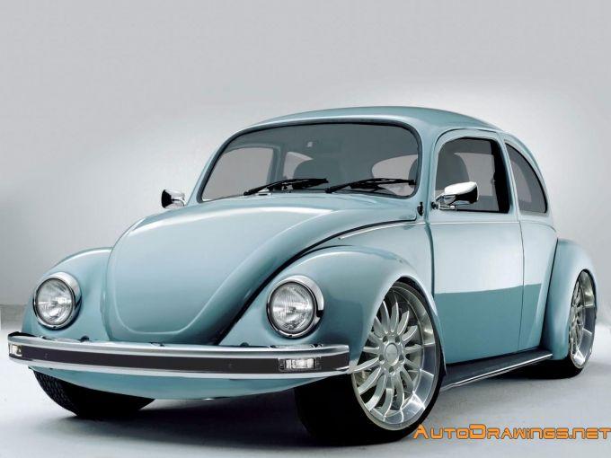 рисунок vw beetle