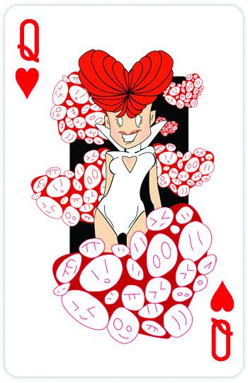 Королева червей - дизайнерская игральная карта