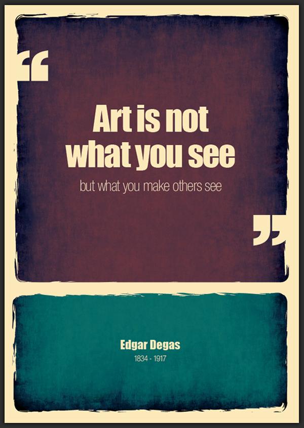 Цитата Эдгара Дега