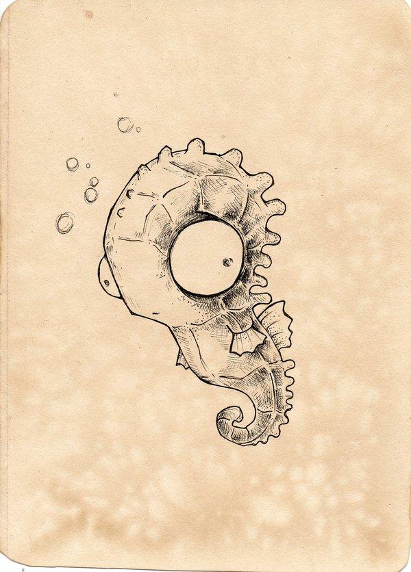 смешной морской конек