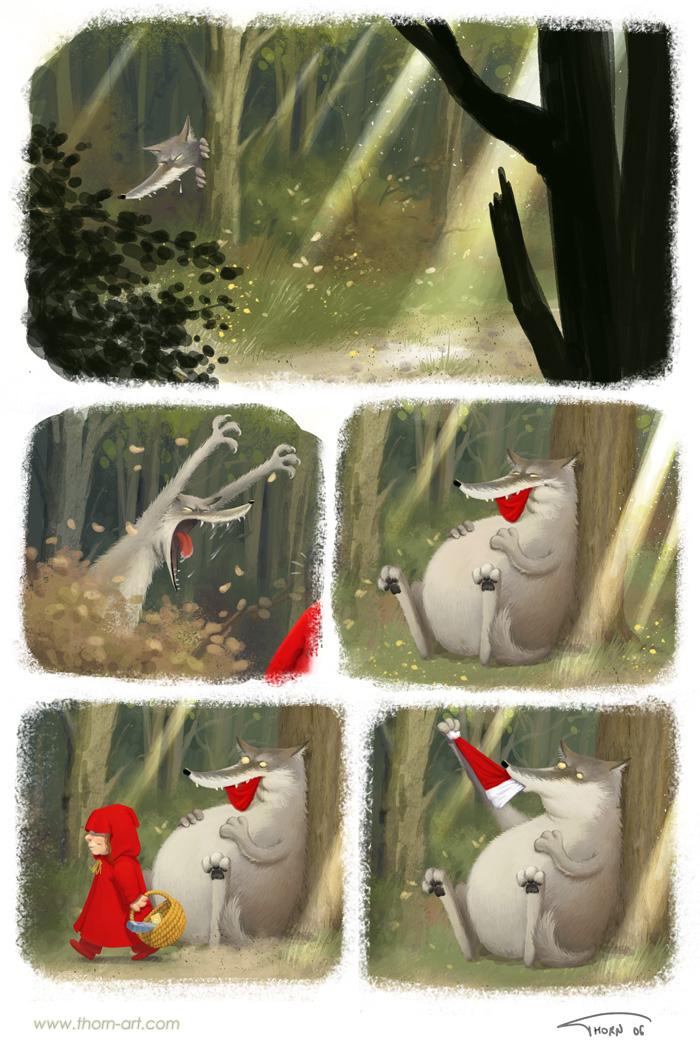 комикс про красную шапочку