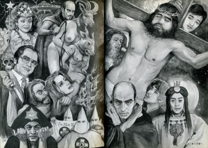 какие-то жуткие комиксы на религиозную тему