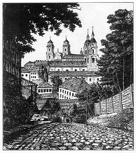 Менск. Выгляд са Шпітальна-Траецкага завулка. 1919