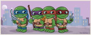 Teenage Mutant Ninja Turtles смешные черепашки ниндзя