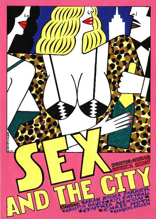 польский постер секс в большом городе