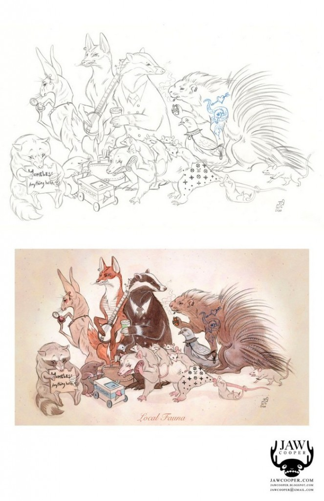 рисунок местная фауна