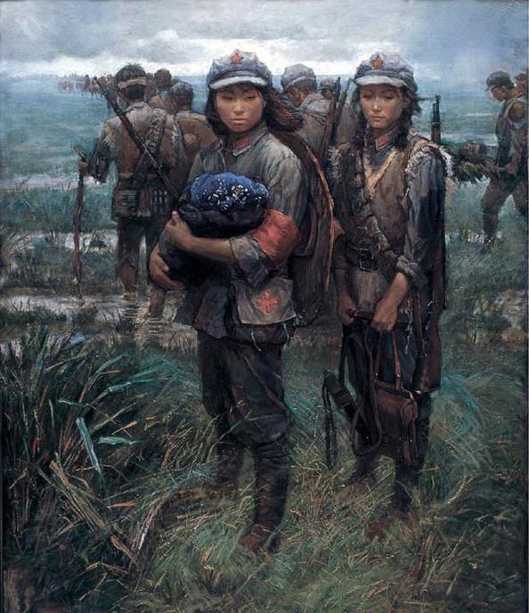 китайская батальная живопись картина партизанки
