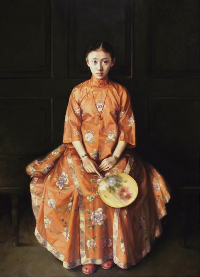 красное китайское платье