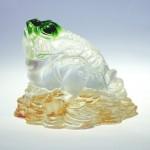 Трехлапая денежная жаба : Фен-Шуй талисман богатства цветное стекло