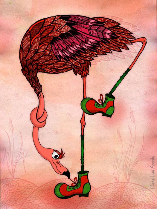 фламинго новые ботинки