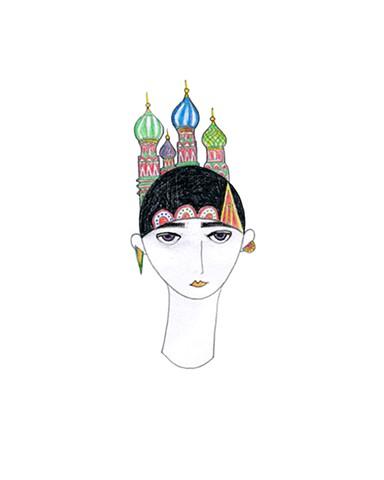 женская голова москва