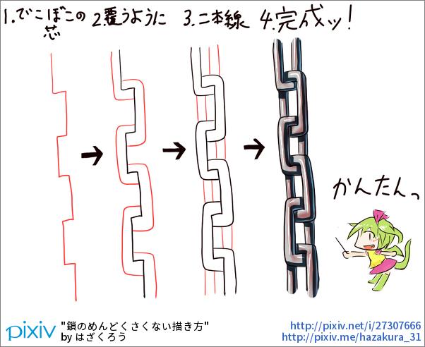 как рисовать цепь