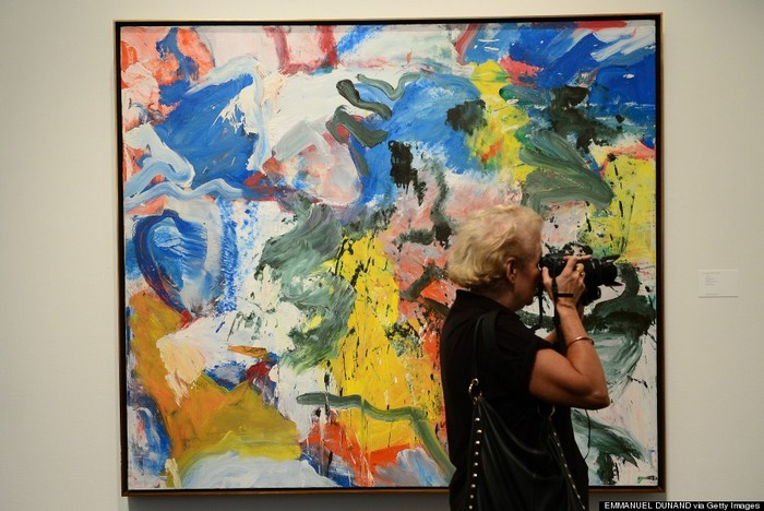 """Untitled V"" by Willem de Kooning is on display during a press preview of Sotheby's auction of contemporary art, at Sotheby's in New York, November 1, 2013. The auction is scheduled to take place on November 13, 2013.  AFP PHOTO/Emmanuel Dunand                 ""MANDATORY MENTION OF THE ARTIST UPON PUBLICATION""        (Photo credit should read EMMANUEL DUNAND/AFP/Getty Images)"