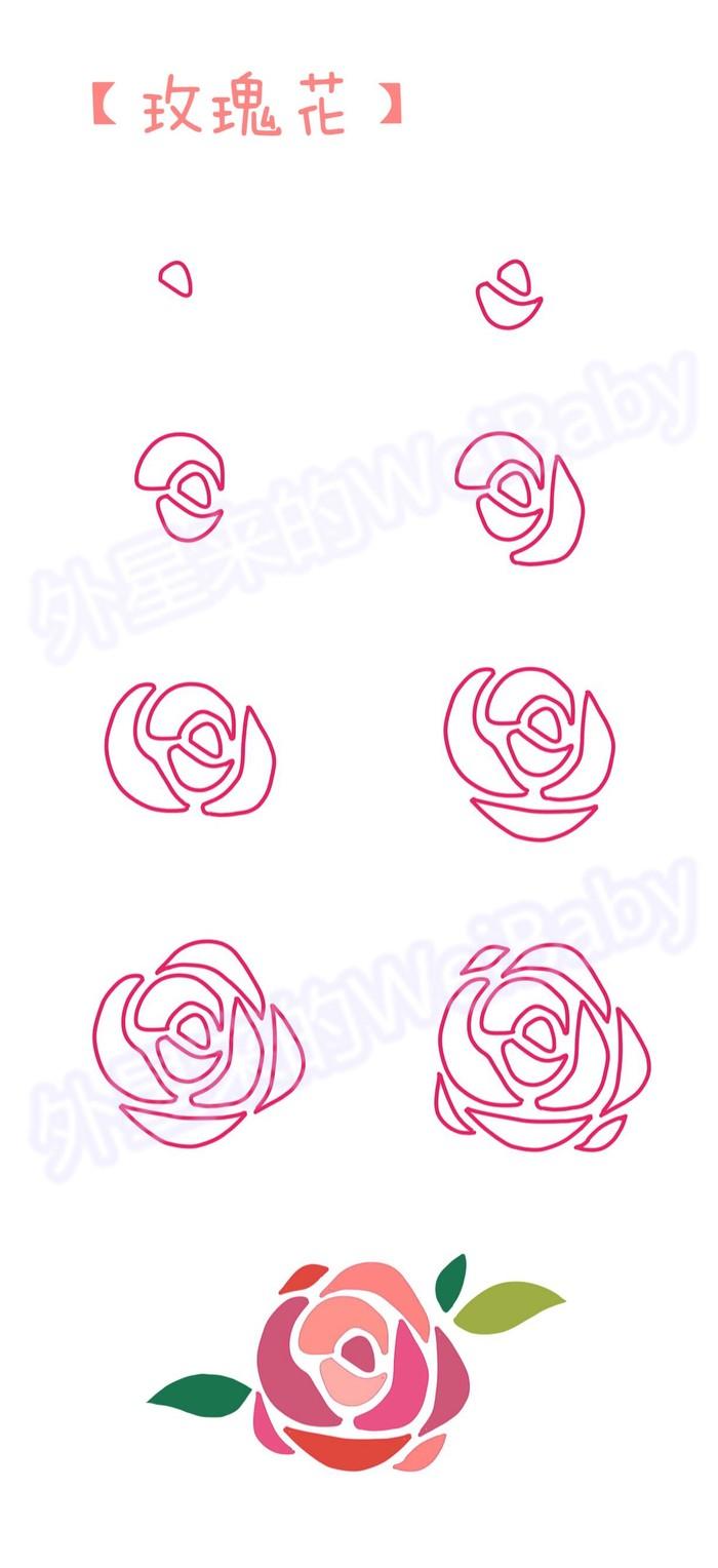 способ рисовать розу