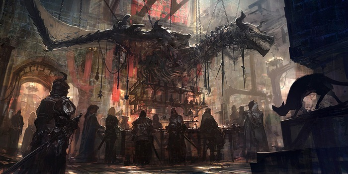 рыцари скелет дракона