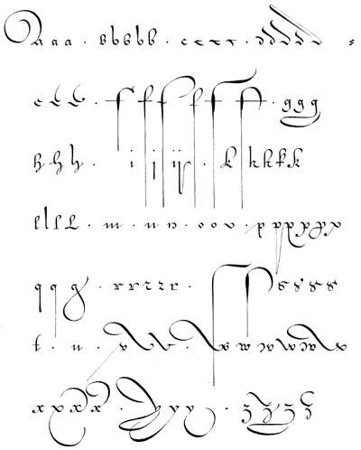 фламандский шрифт XVII века