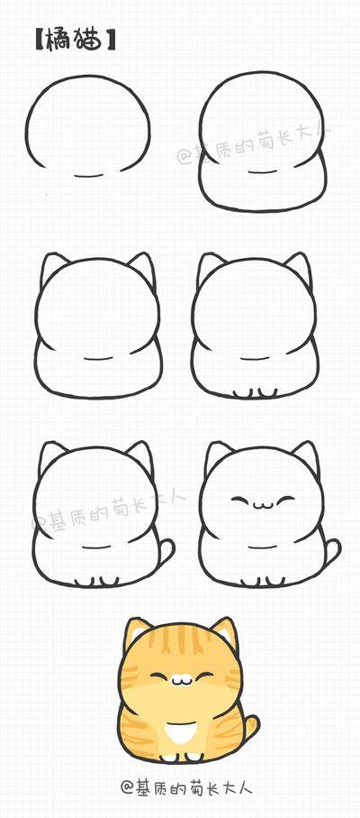 как нарисовать толстого рыжего кота