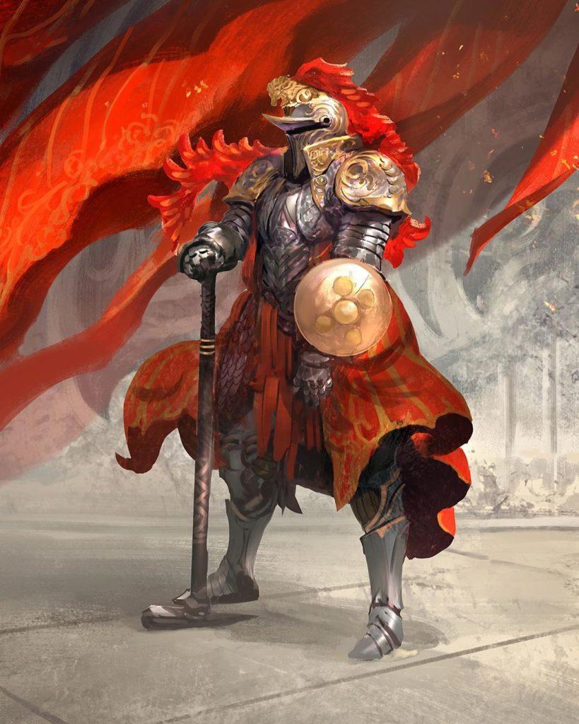 рыцарь в красном