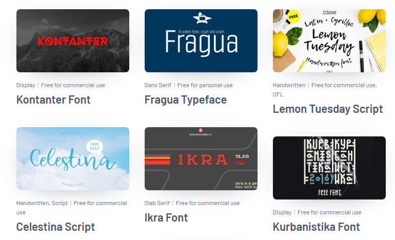 200+ Free Cyrillic Fonts