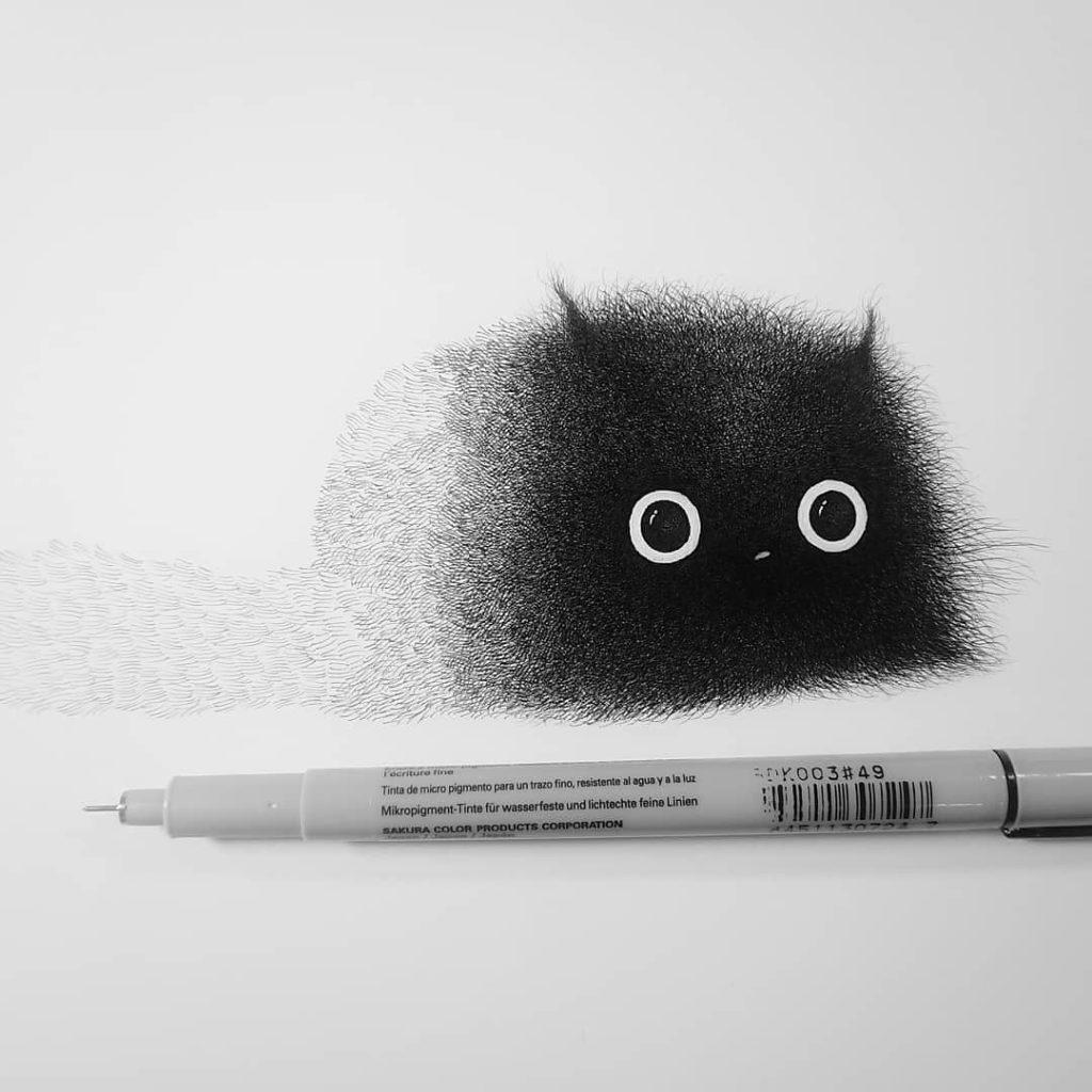 котик и карандаш